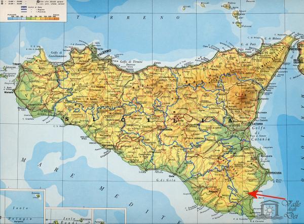 Aeroporti In Sicilia Cartina.Valle Degli Dei Mappa Sicilia